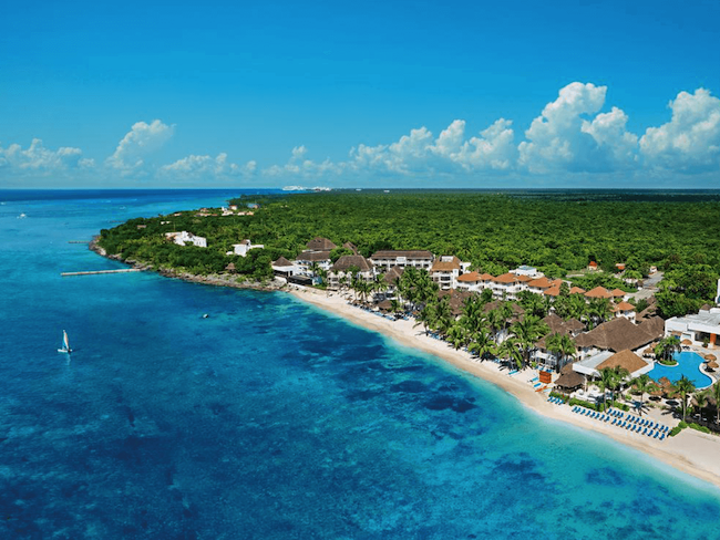 The island of Cozumel.