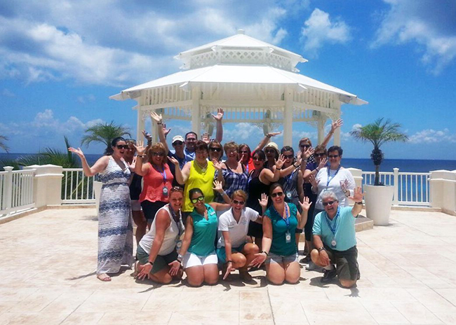 Molly and her group very happy with their van tour in Cozumel.